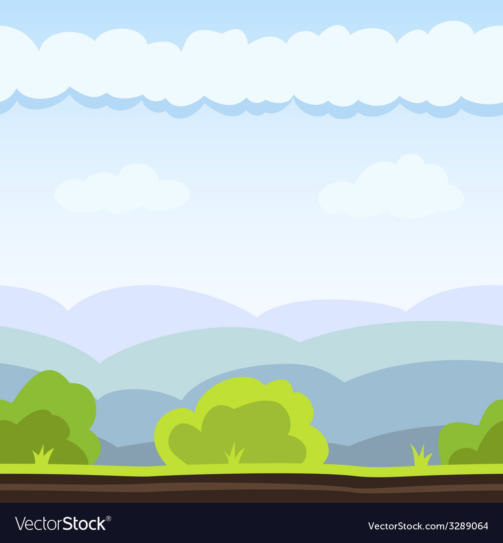Meadow game background vector | Price: 1 Credit (USD $1)