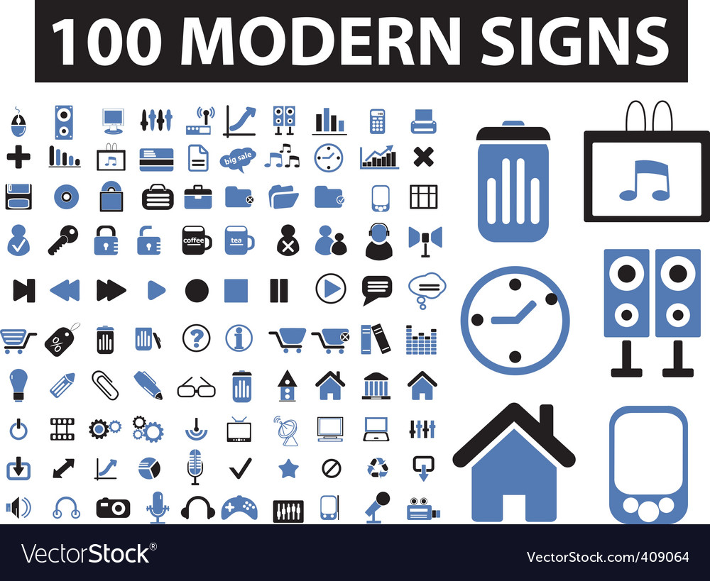 Modern signs vector | Price: 1 Credit (USD $1)