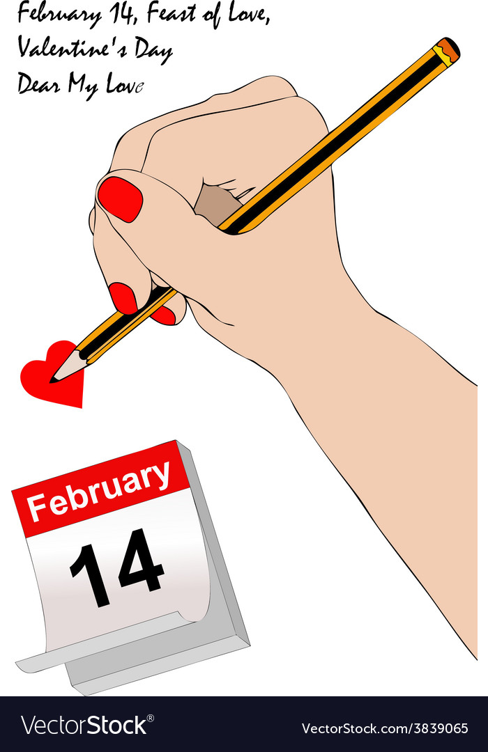 A letter for valentines day vector | Price: 1 Credit (USD $1)