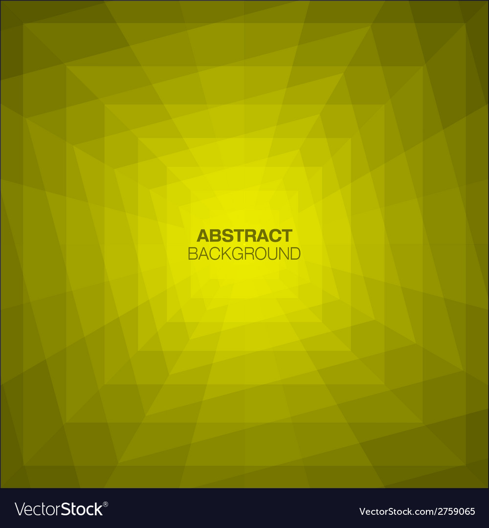 Abstract yellow geometric tunnel background vector | Price: 1 Credit (USD $1)