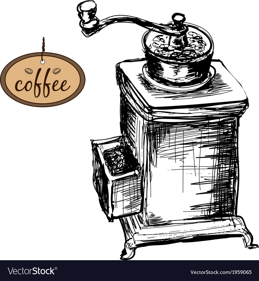 Coffee mill vector | Price: 1 Credit (USD $1)