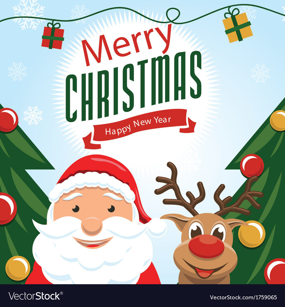 Cute christmas card vector | Price: 1 Credit (USD $1)