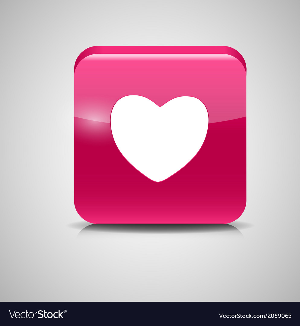 Heart shaped glass button vector | Price: 1 Credit (USD $1)
