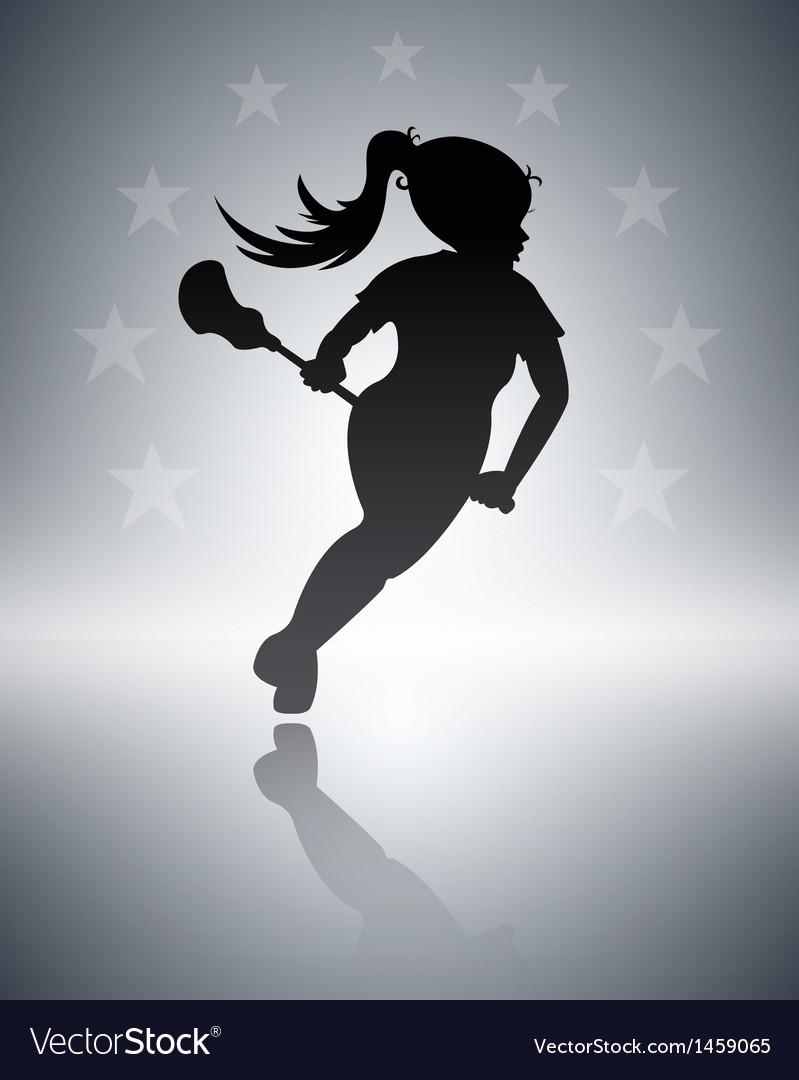 Lacrosse girl vector   Price: 1 Credit (USD $1)