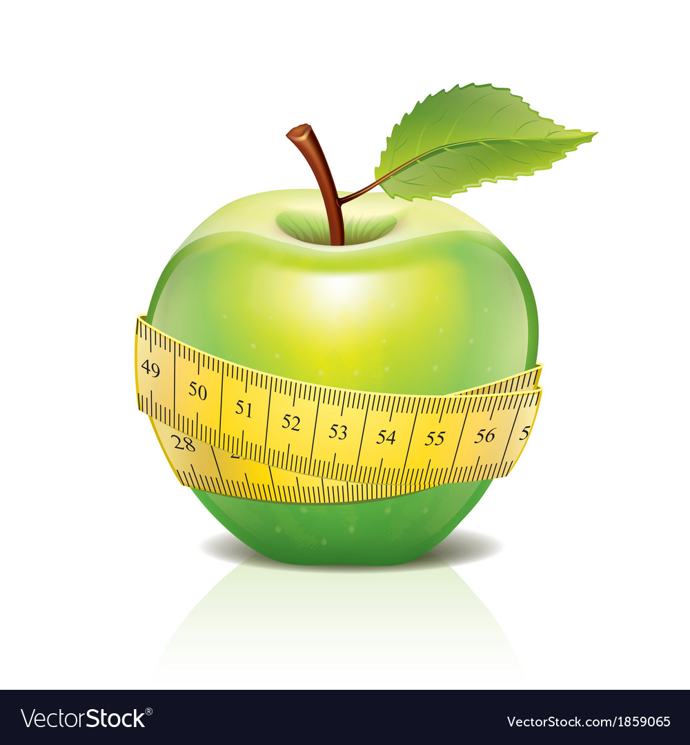 Object green apple tape vector | Price: 1 Credit (USD $1)