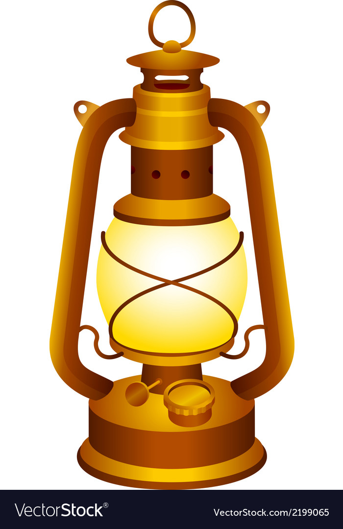 Old lantern vector | Price: 1 Credit (USD $1)