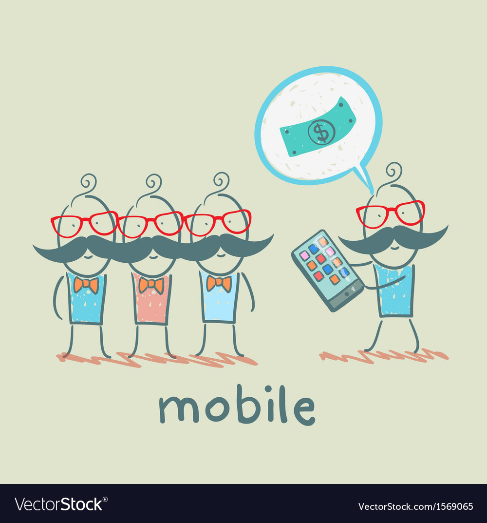 People buy mobile vector | Price: 1 Credit (USD $1)