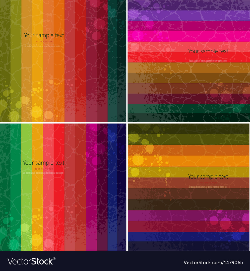 Set of four colourful line background vector | Price: 1 Credit (USD $1)