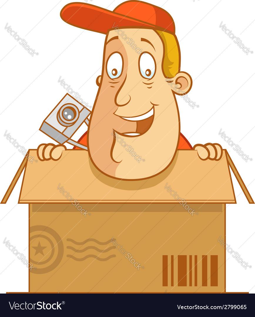 Tourist carton delivery vector | Price: 1 Credit (USD $1)