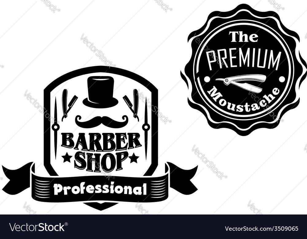 Vintage barber shop designs set vector | Price: 1 Credit (USD $1)