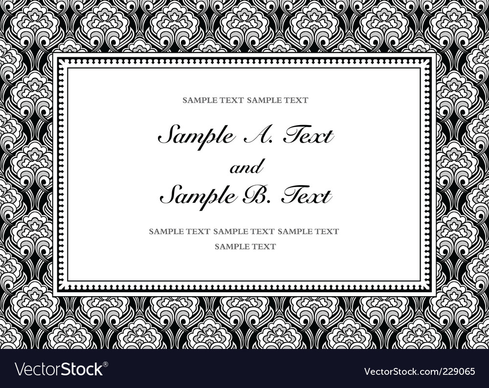 Vintage pattern and frame vector | Price: 1 Credit (USD $1)