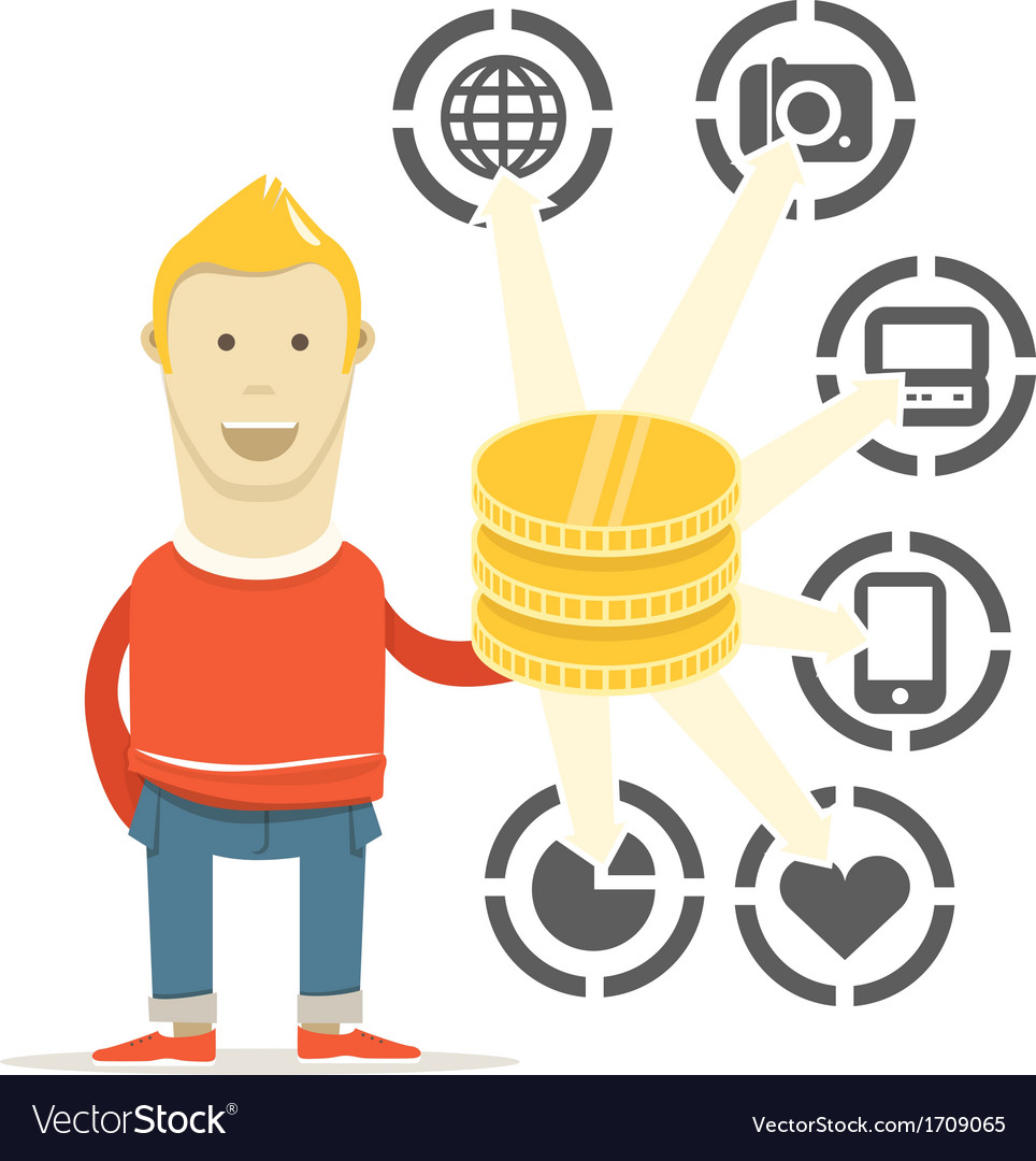 The way to spend money vector | Price: 1 Credit (USD $1)