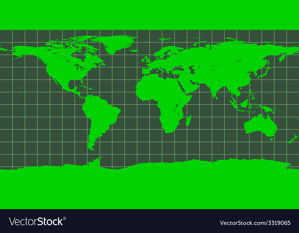 Worldmap in green vector | Price: 1 Credit (USD $1)