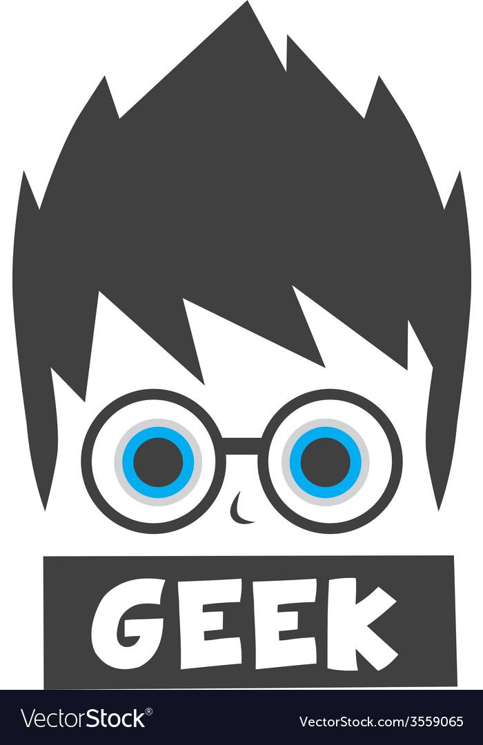 Young geek cartoon vector | Price: 1 Credit (USD $1)