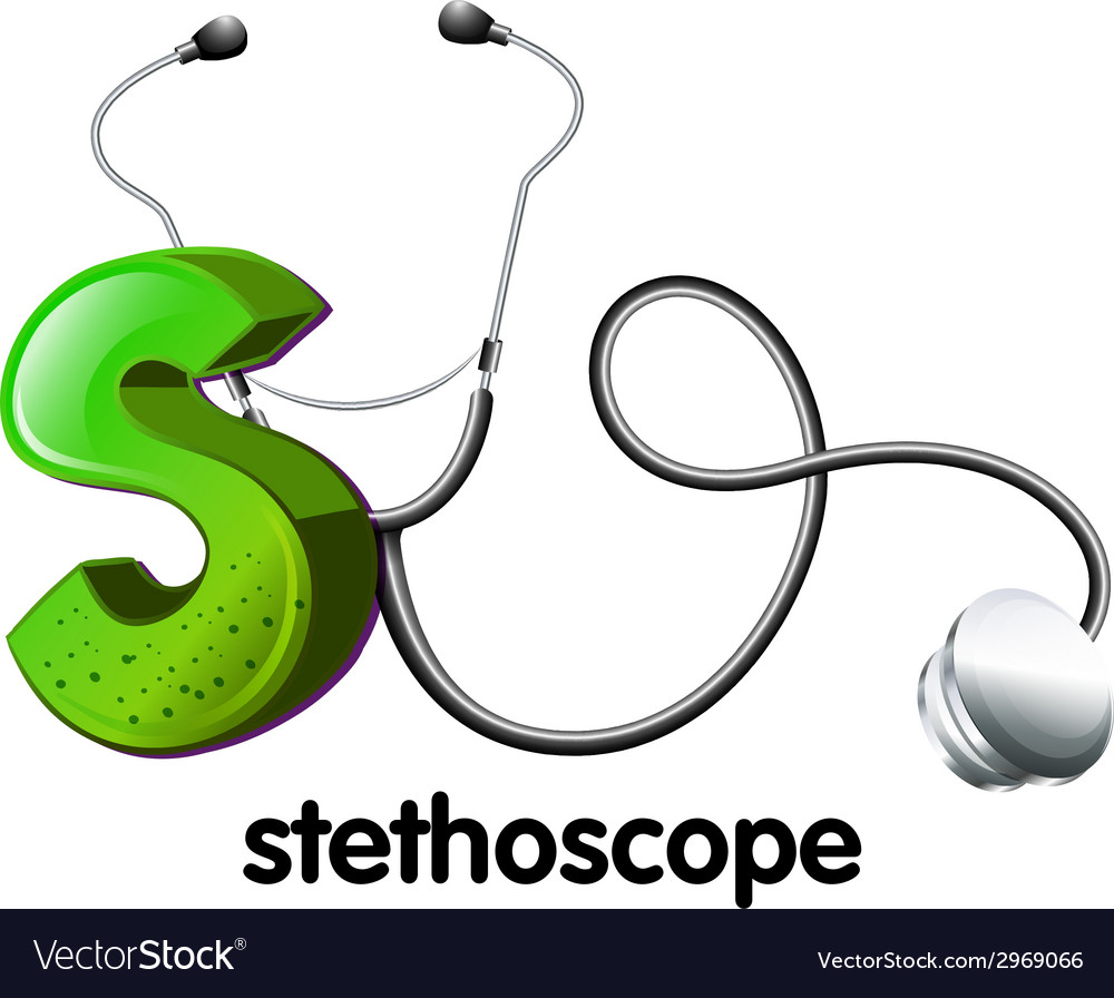 A letter s for stethoscope vector | Price: 1 Credit (USD $1)