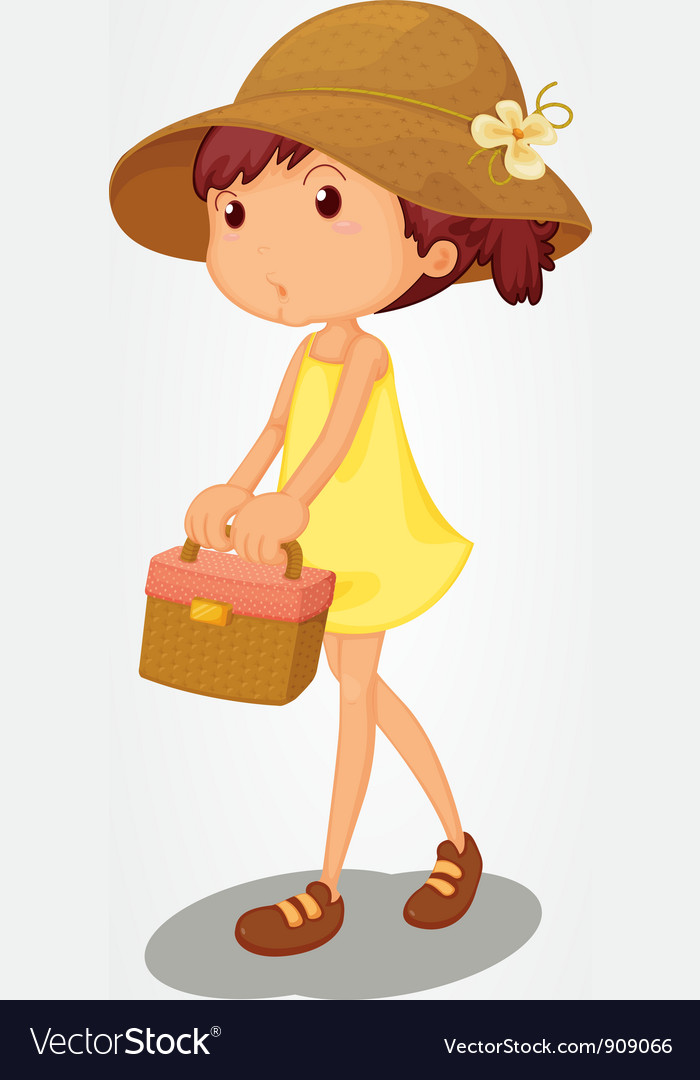 Basket girl vector | Price: 3 Credit (USD $3)