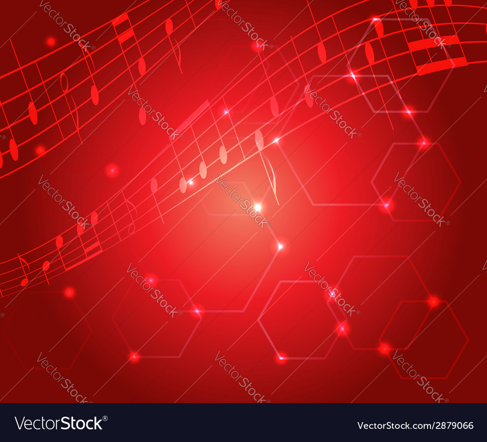 Bright red music background with gradient vector | Price: 1 Credit (USD $1)