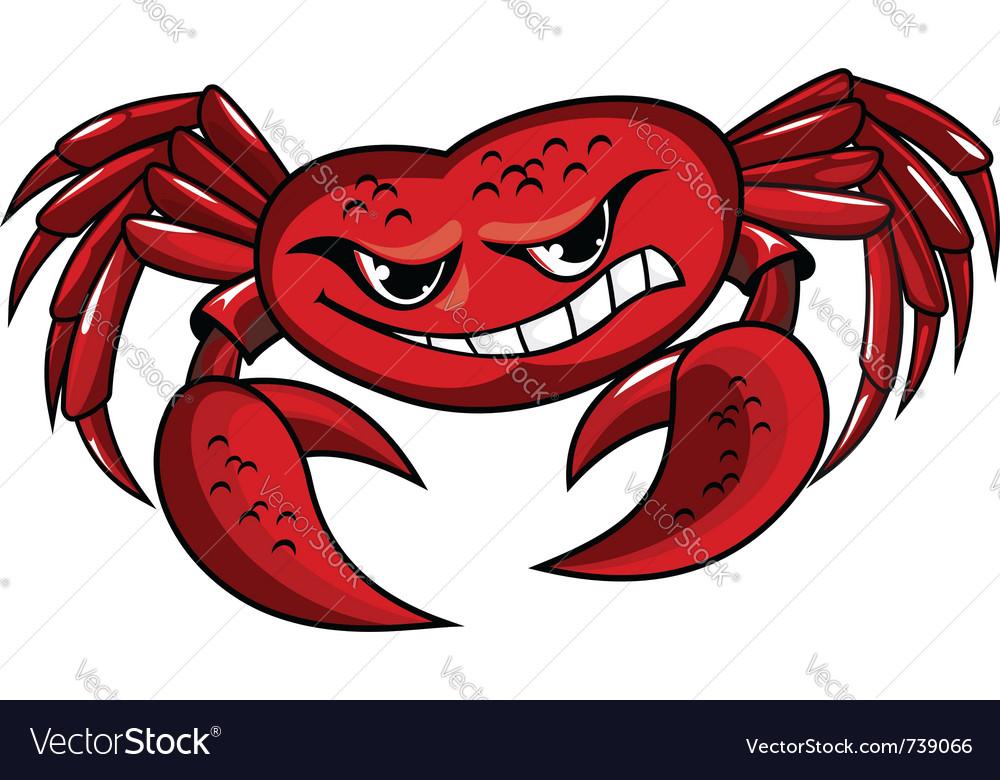 Crab mascot icon vector   Price: 1 Credit (USD $1)