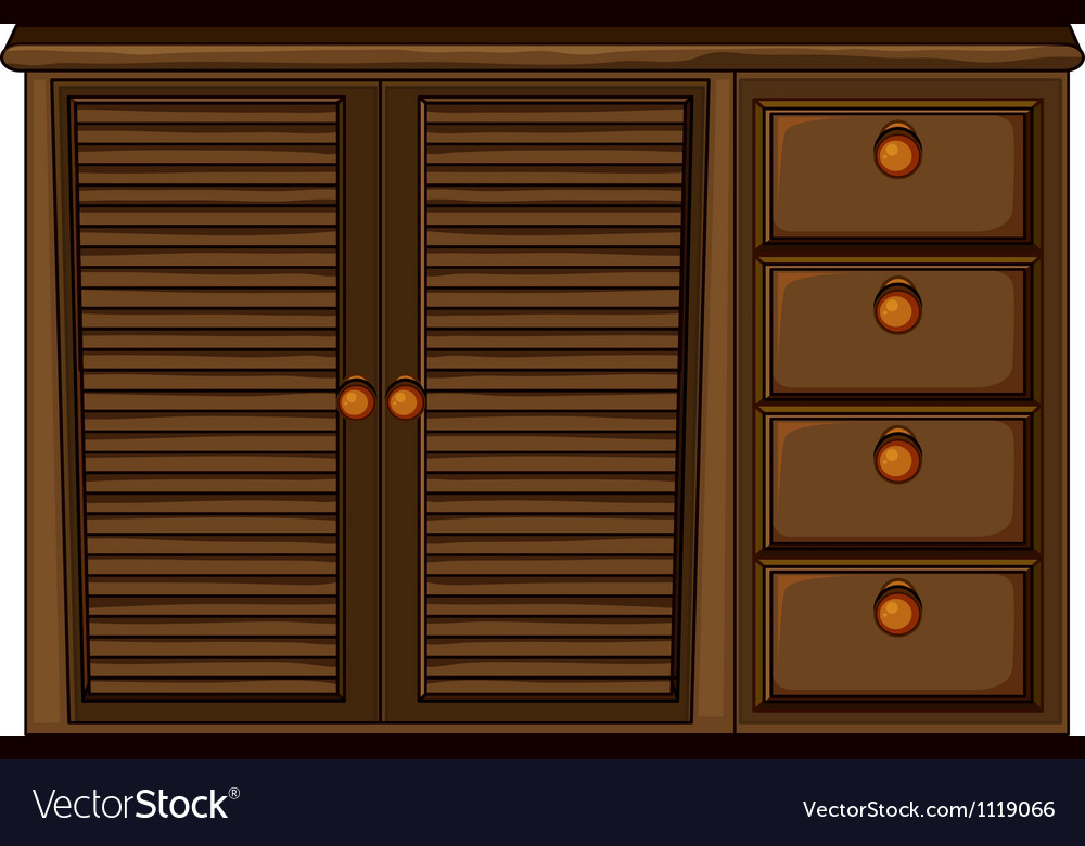 Cupboard with drawer vector | Price: 1 Credit (USD $1)
