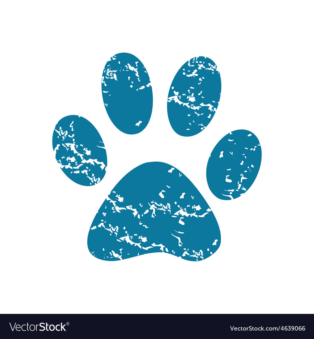 Paw print icon vector | Price: 1 Credit (USD $1)