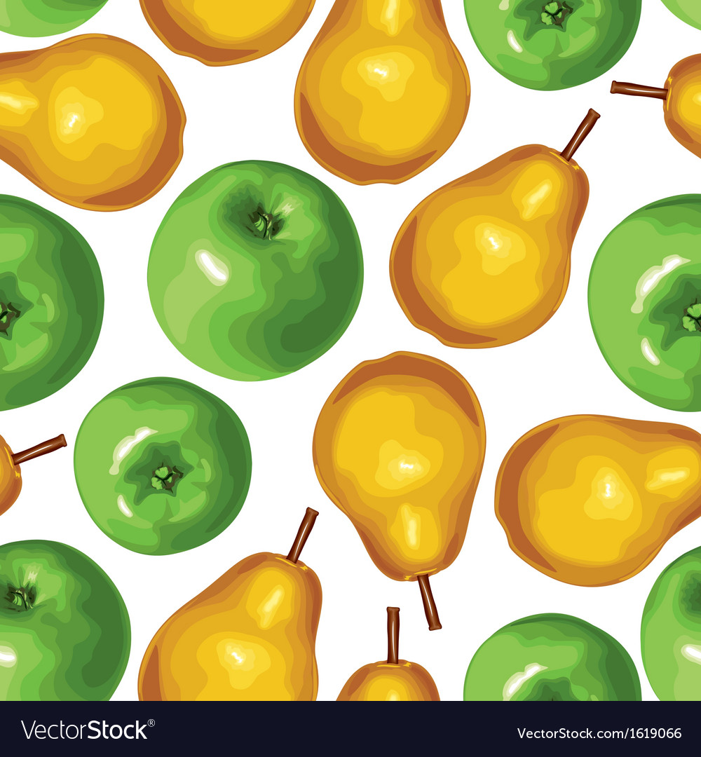 Pear apple seamless vector | Price: 1 Credit (USD $1)