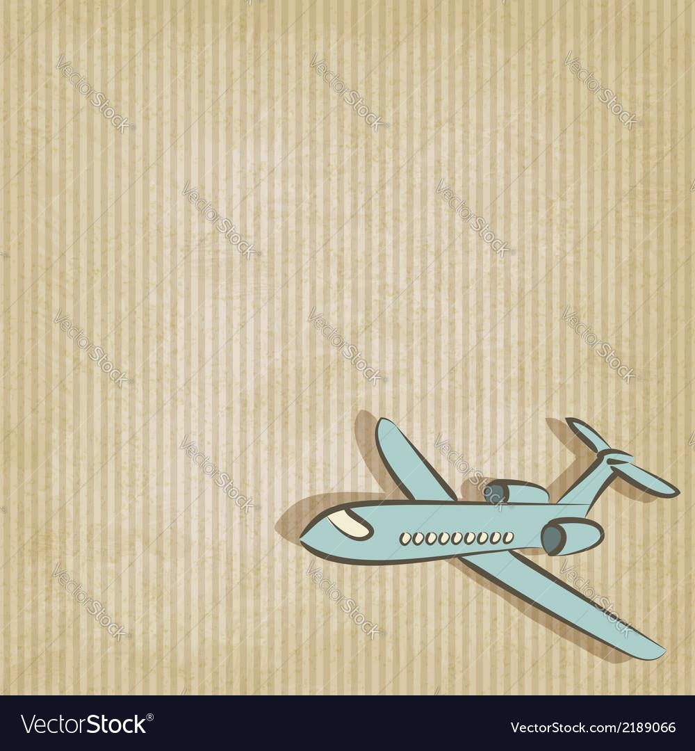 Retro background with plane vector   Price: 1 Credit (USD $1)