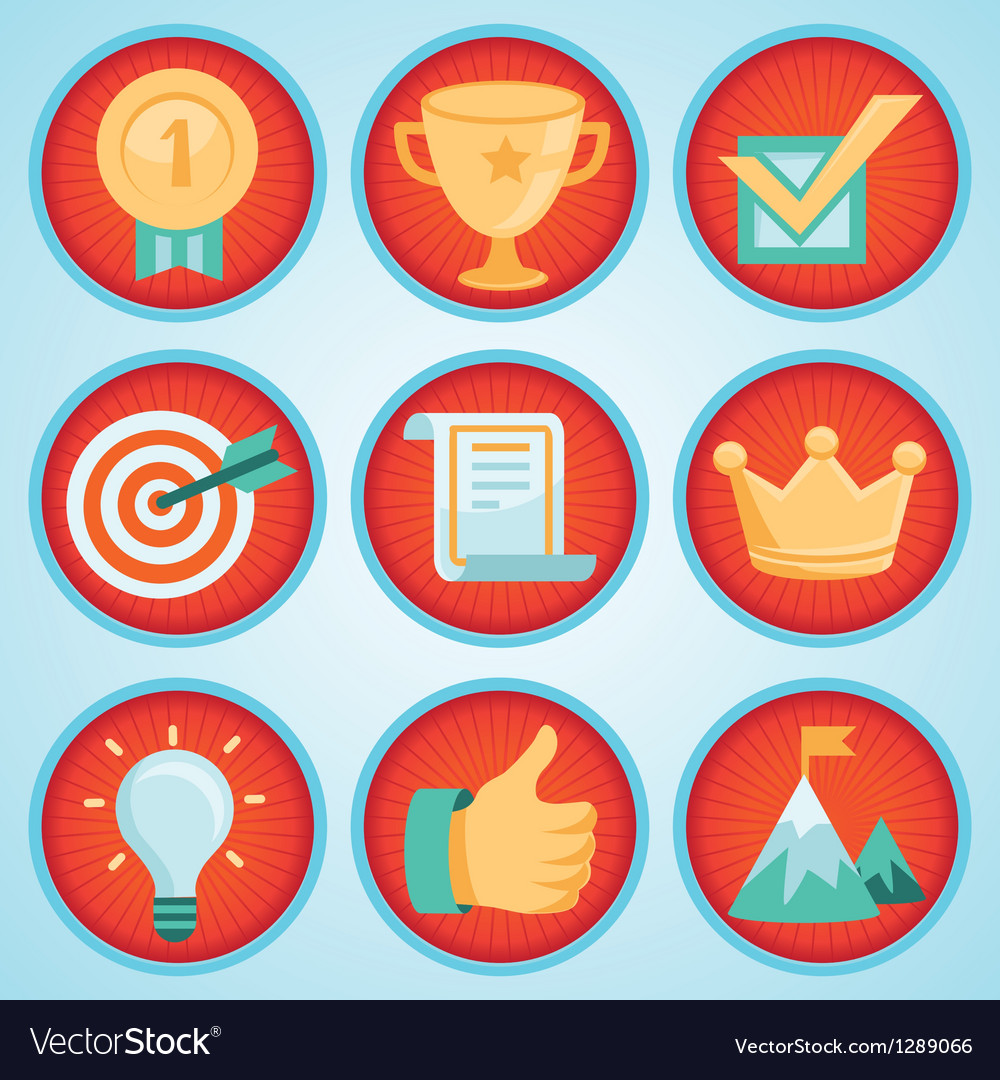 Set with achievement and awards badges vector | Price: 1 Credit (USD $1)