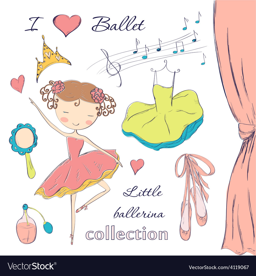 Ballerina and accessories vector | Price: 1 Credit (USD $1)
