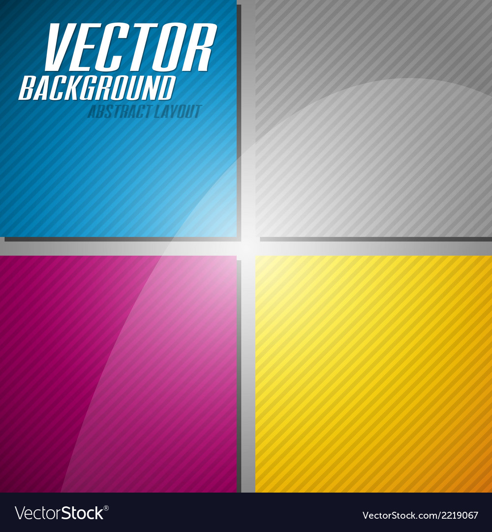 Cmyk squares vector | Price: 1 Credit (USD $1)