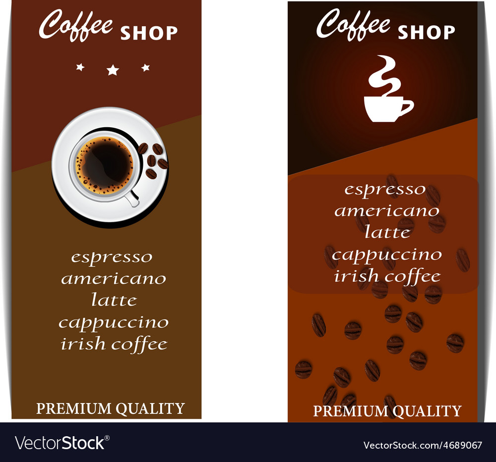 Coffee shop menu vector | Price: 1 Credit (USD $1)