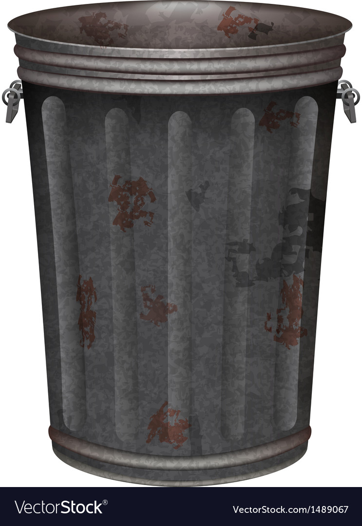Garbage can vector | Price: 1 Credit (USD $1)