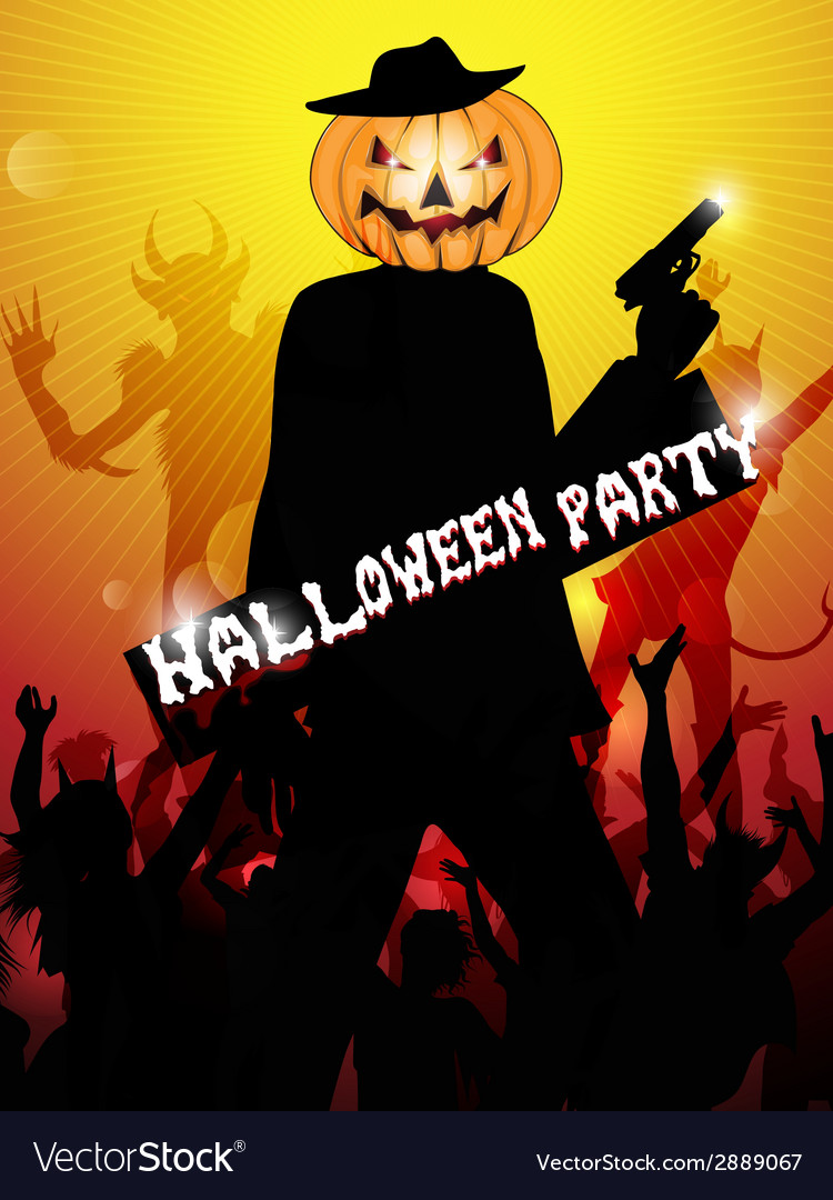 Hallowen party background vector | Price: 1 Credit (USD $1)