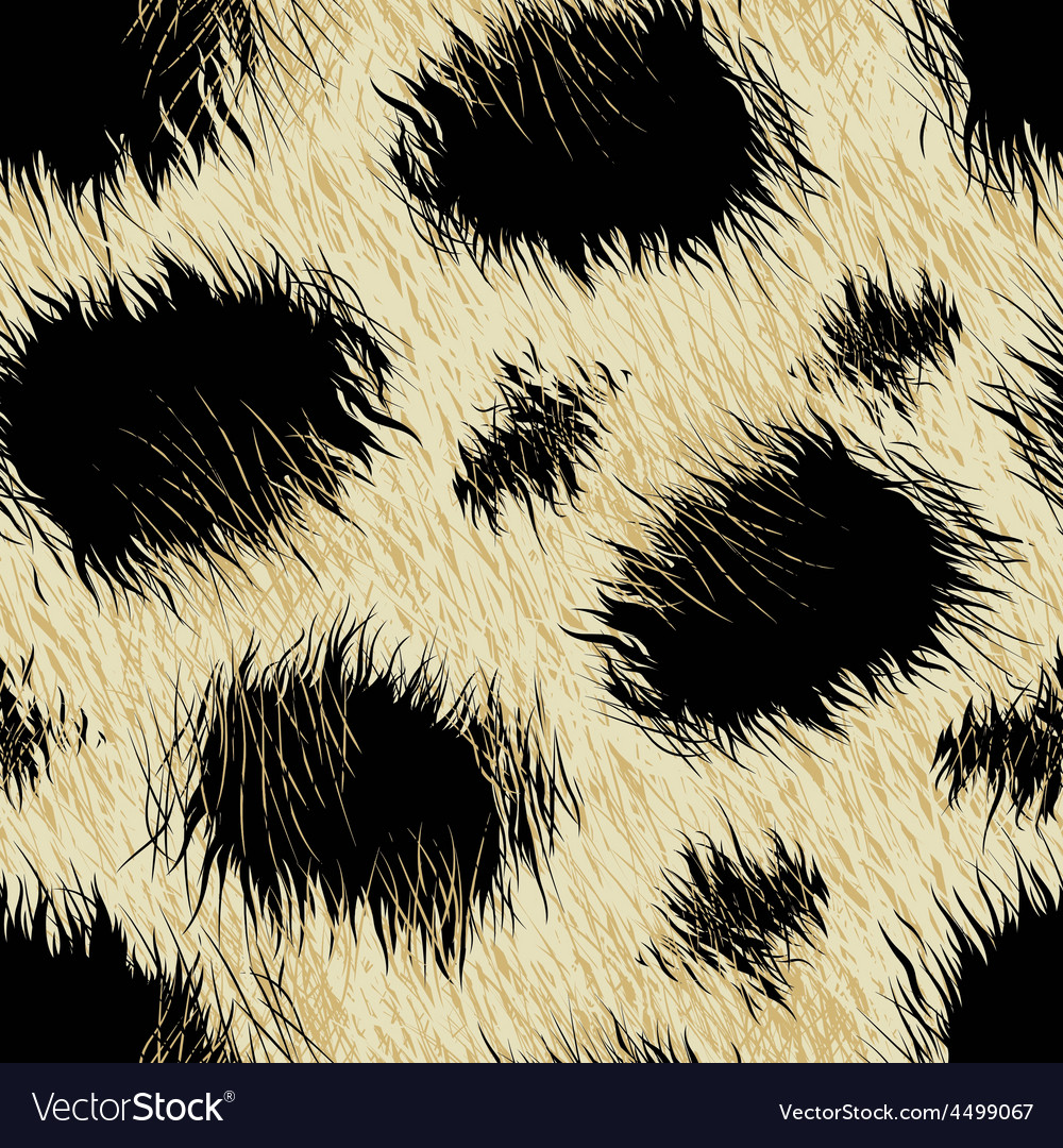 Leopard spots fur in a seamless pattern vector | Price: 1 Credit (USD $1)