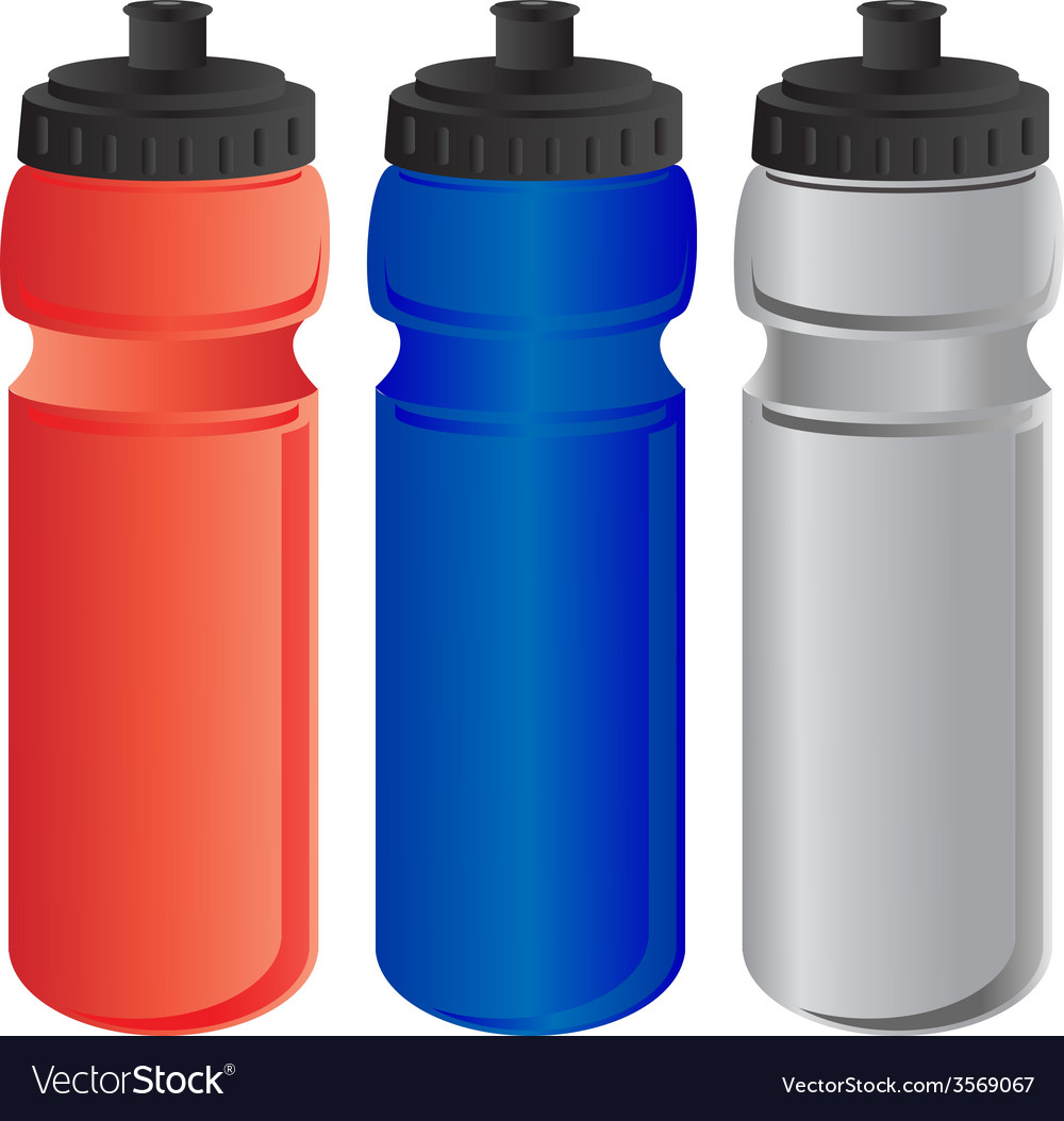 Red blue and grey sports water bottle vector   Price: 1 Credit (USD $1)