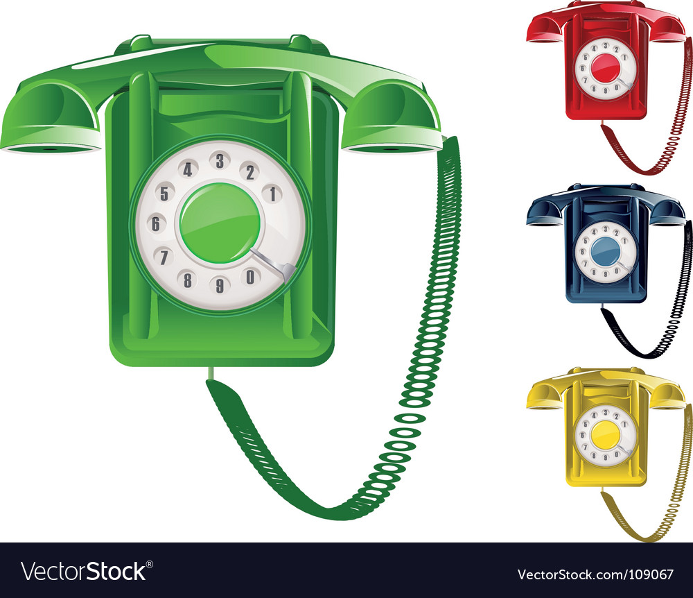 Retro telephone illustration vector | Price: 3 Credit (USD $3)