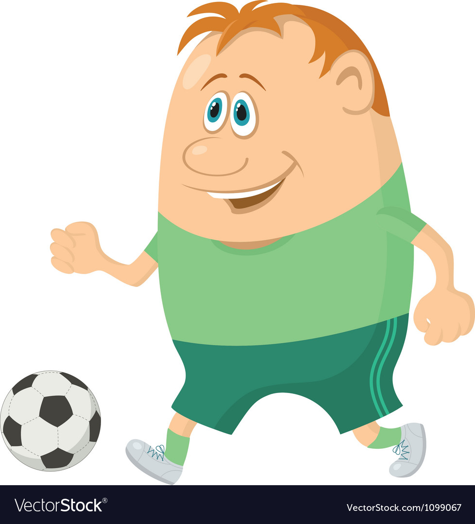 Soccer with ball vector | Price: 3 Credit (USD $3)