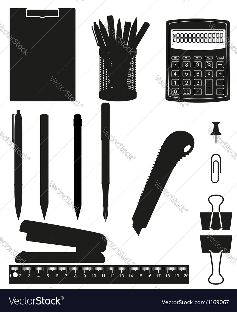 Stationery set 03 vector | Price: 1 Credit (USD $1)