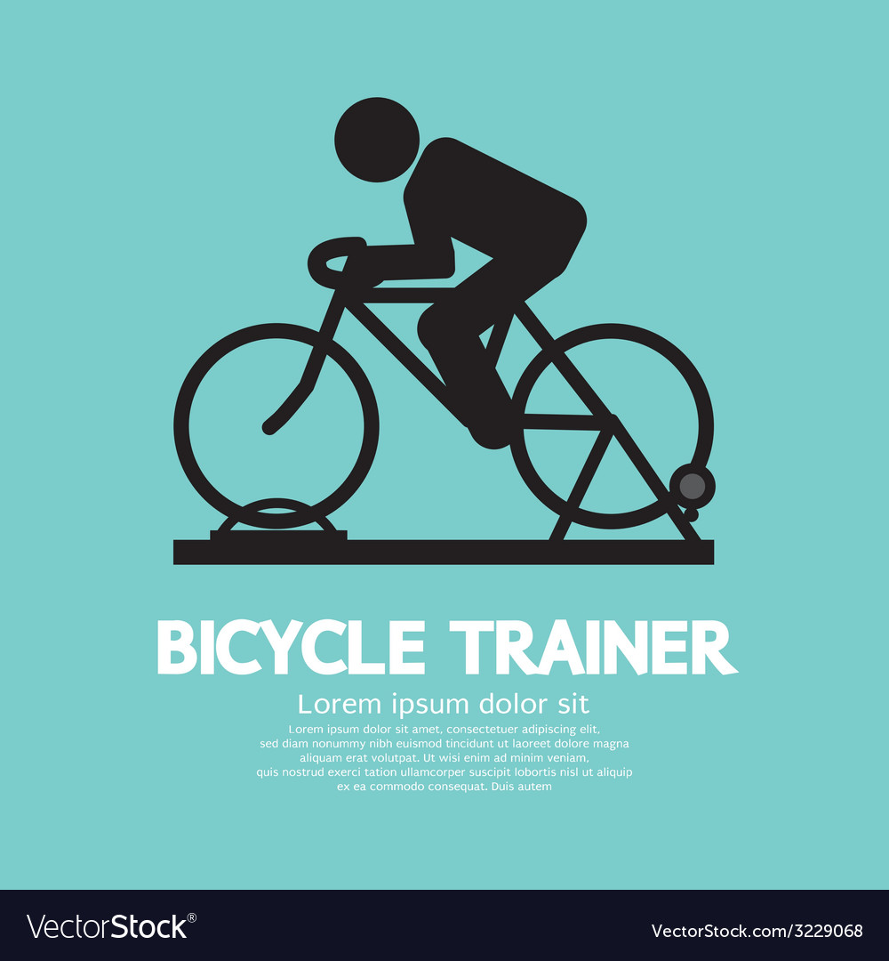 Bicycle trainer vector | Price: 1 Credit (USD $1)