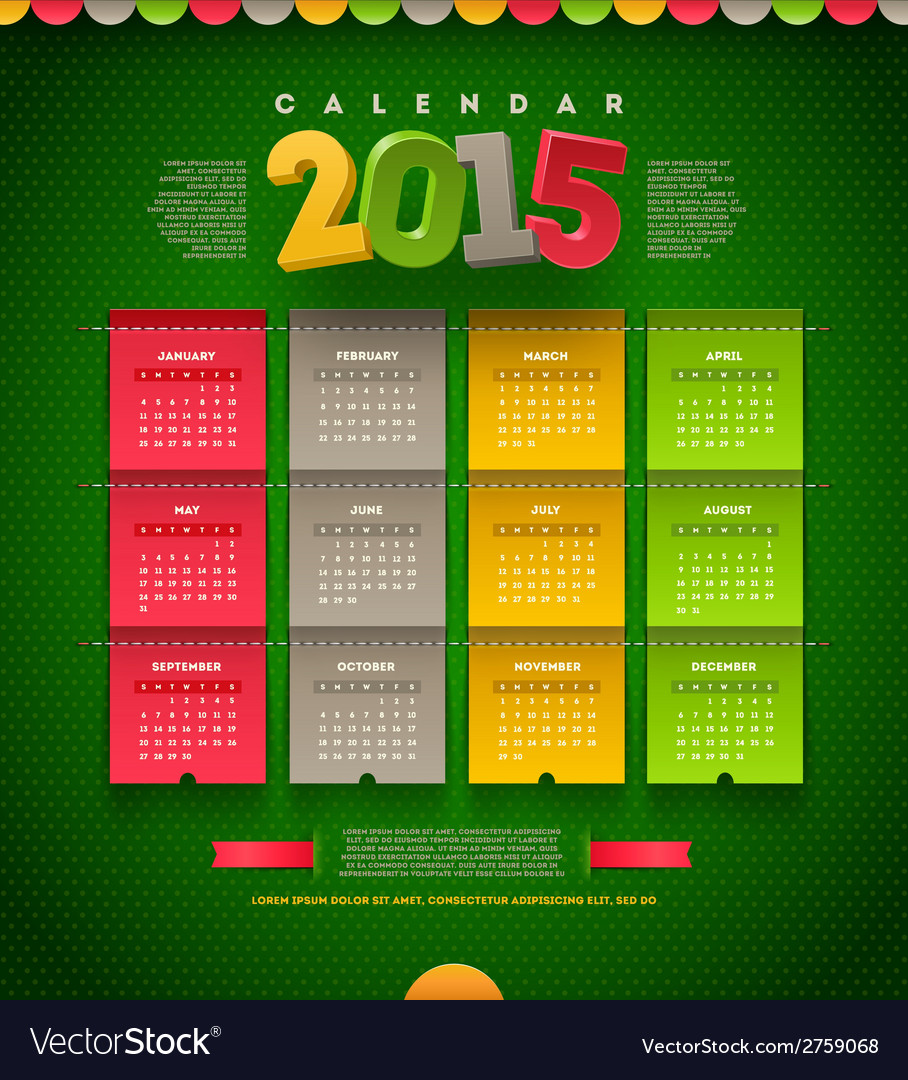 Calendar of 2015 vector | Price: 1 Credit (USD $1)