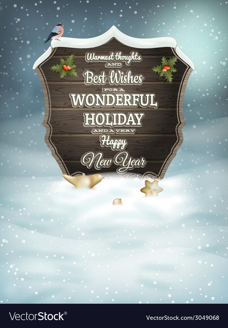 Christmas vintage greeting card eps 10 vector | Price: 3 Credit (USD $3)