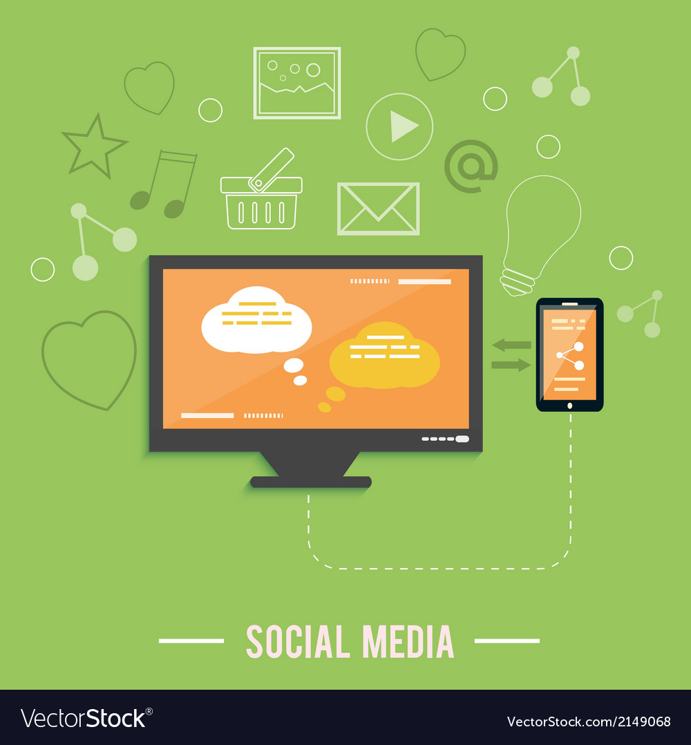Cloud of application icons social media vector | Price: 1 Credit (USD $1)