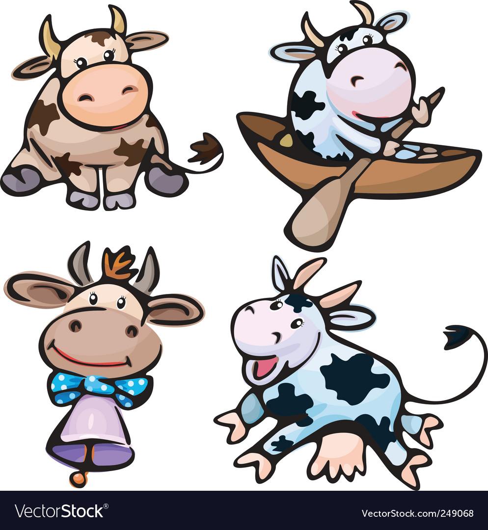 Cute cows vector | Price: 3 Credit (USD $3)