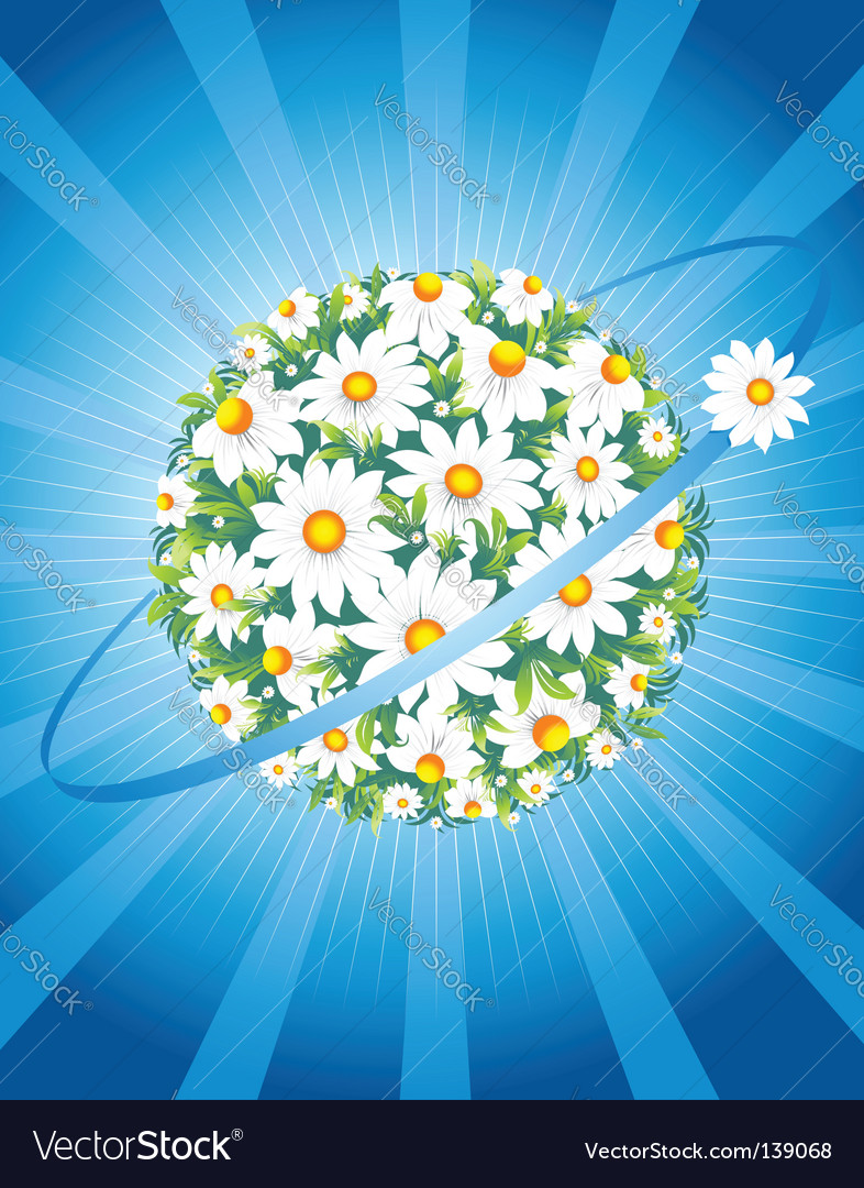 Floral world vector | Price: 1 Credit (USD $1)