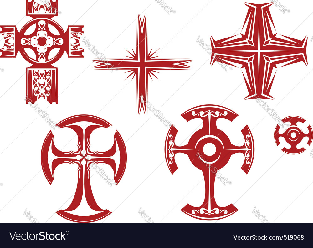 Religious crosses vector | Price: 1 Credit (USD $1)