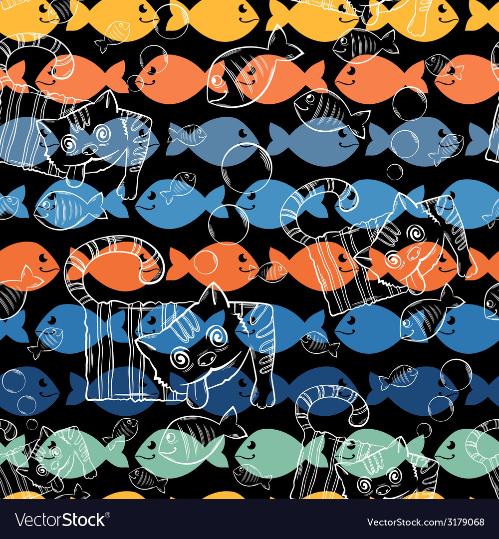 Seamless patterns a series of strange animalscrazy vector | Price: 1 Credit (USD $1)