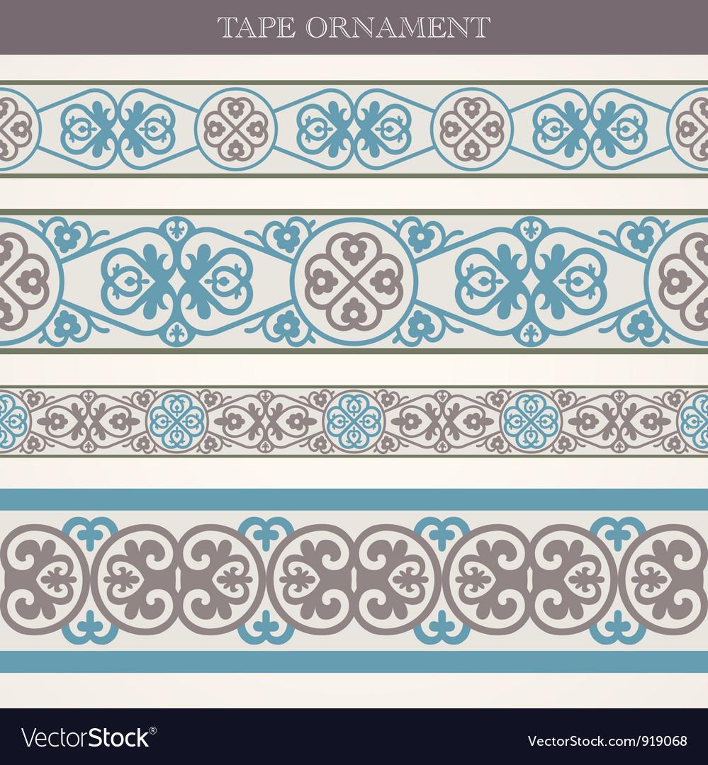 Tape ornament vector | Price: 1 Credit (USD $1)