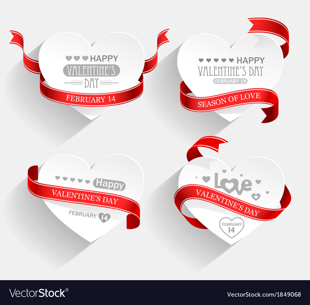 Valentines day emblems vector | Price: 1 Credit (USD $1)