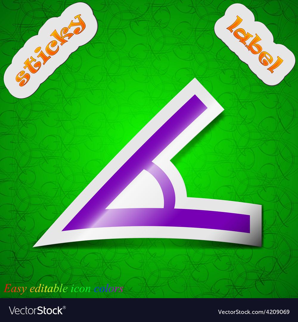 Angle 45 degrees icon sign symbol chic colored vector | Price: 1 Credit (USD $1)