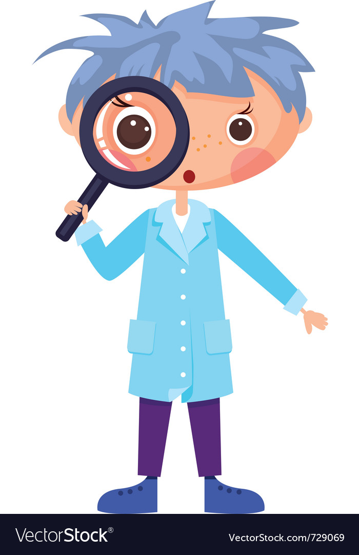 Cartoon scientist vector | Price: 3 Credit (USD $3)