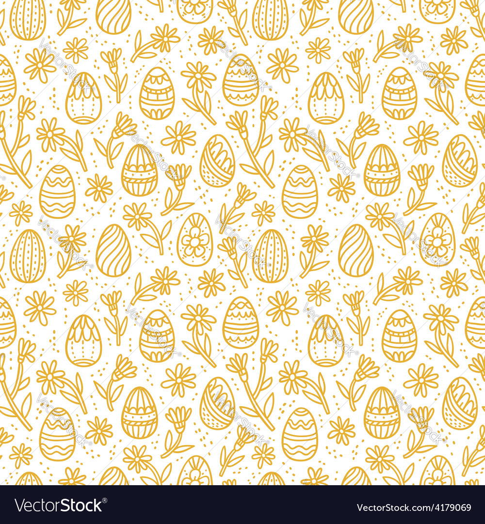 Decorative easter gold eggs seamless pattern vector | Price: 1 Credit (USD $1)
